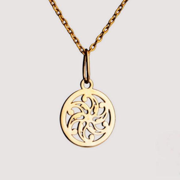 گردنبند طلا 18 عیار زنانه آمانژ کد D9260