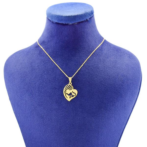 گردنبند طلا 18 عیار زنانه کانیار گالری طرح مادر مدل NE108