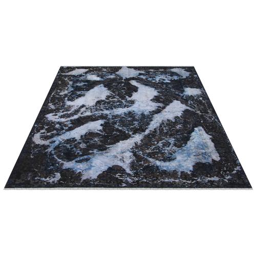 فرش دستبافت رنگ شده شش و نیم متری طرح وینتج کد 18198