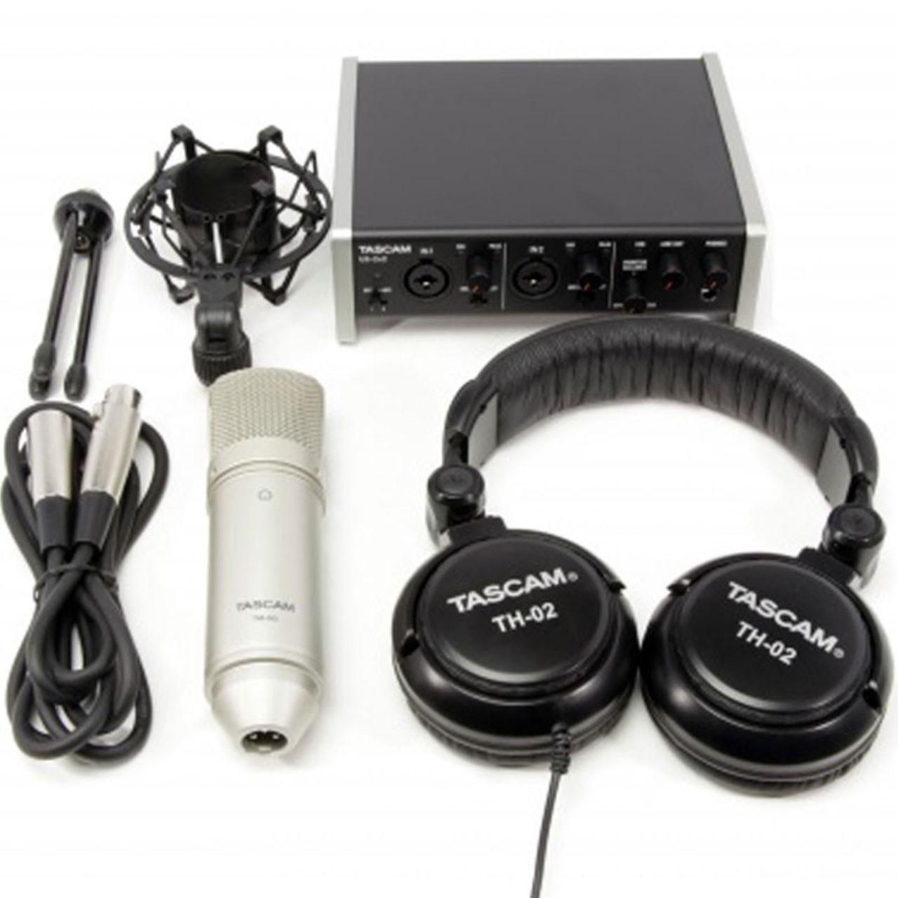 پکیج کامل ضبط استودیو تسکم مدل 2X2 Track Pack