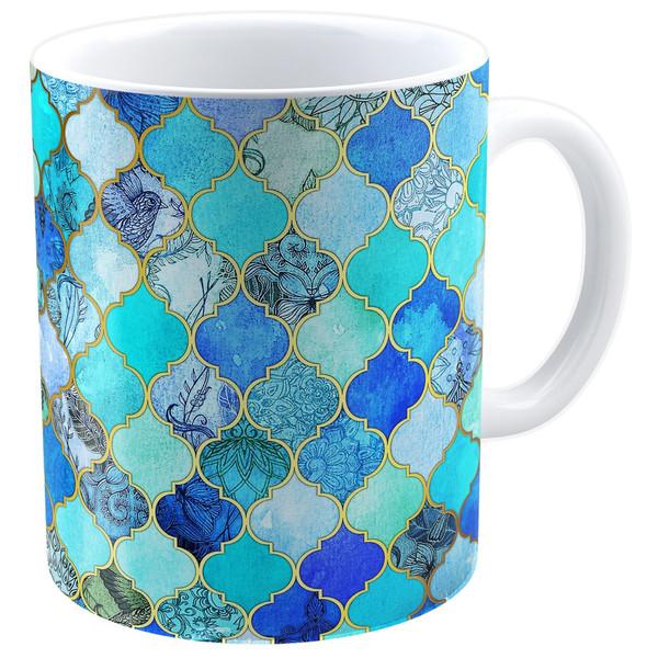 ماگ شین دیزاین طرح کاشی مراکشی کد 4019