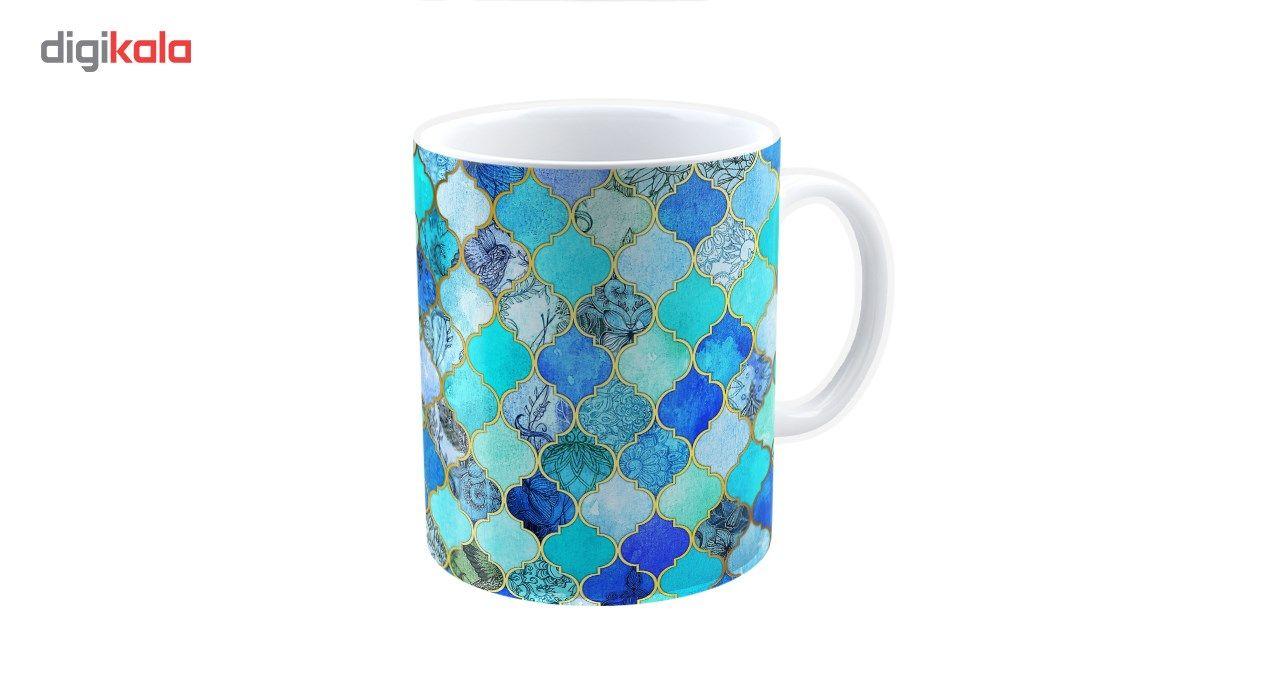 ماگ شین دیزاین طرح کاشی مراکشی کد 4019 main 1 1