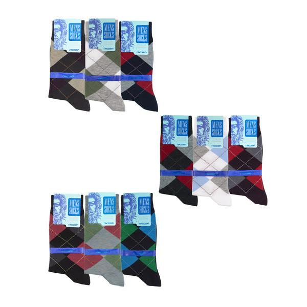جوراب مردانه راکون مدل 102357 مجموعه 9 عددی