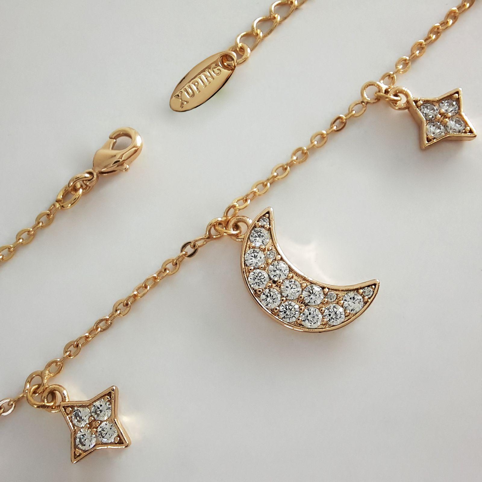 دستبند زنانه ژوپینگ طرح ماه و ستاره کد XP239 -  - 5