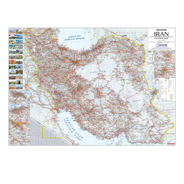 نقشه راهنمای ایران گیتاشناسی نوین کد 1491