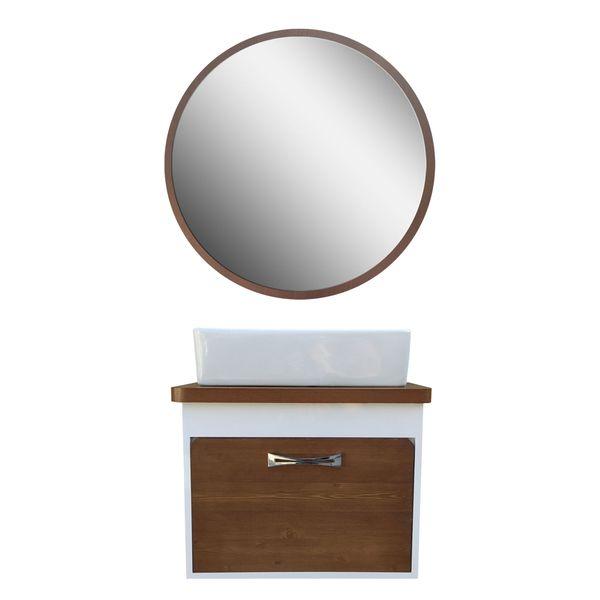 ست کابینت و روشویی مدل aylar1 به همراه آینه
