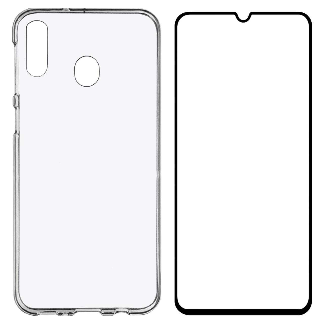 کاور مدل BLKN مناسب برای گوشی موبایل سامسونگ Galaxy A20 به همراه محافظ صفحه نمایش