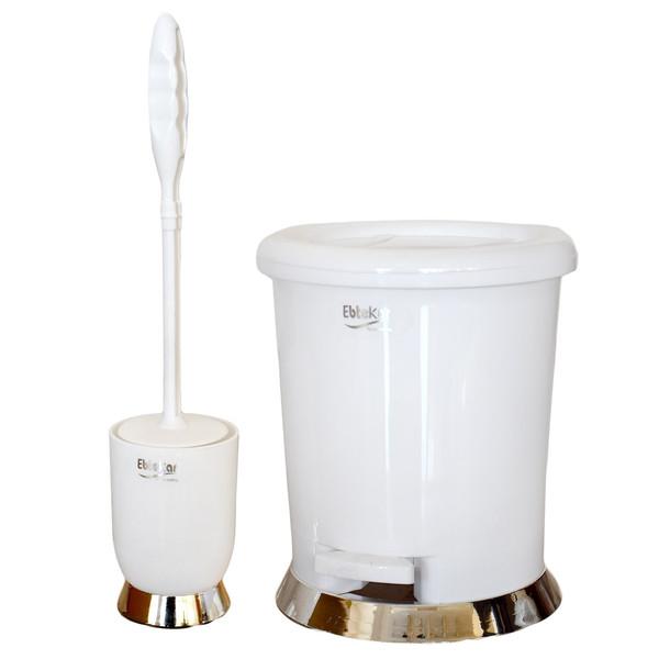 ست سطل زباله و فرچه 3/5 لیتری ابتکار مدل پدالی کد EB01001