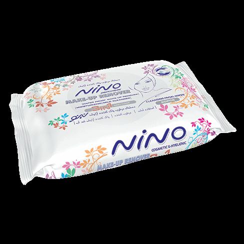 دستمال مرطوب پاک کننده آرایش نینو  مدل 3In1- بسته 20 عددی