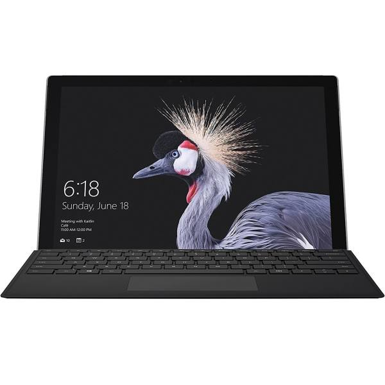 تبلت مایکروسافت سیم کارت خور مدل Surface Pro 2017 - B به همراه کیبورد مشکی مایکروسافت و کیف Golden Guard - ظرفیت 128 گیگابایت