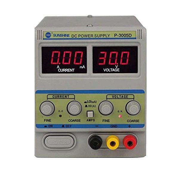 منبع تغذیه 30 ولت 5 امپر سانشاین مدل P-3005D