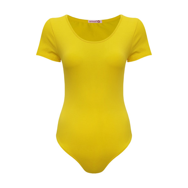 بادی زنانه افراتین کد 9538 رنگ زرد