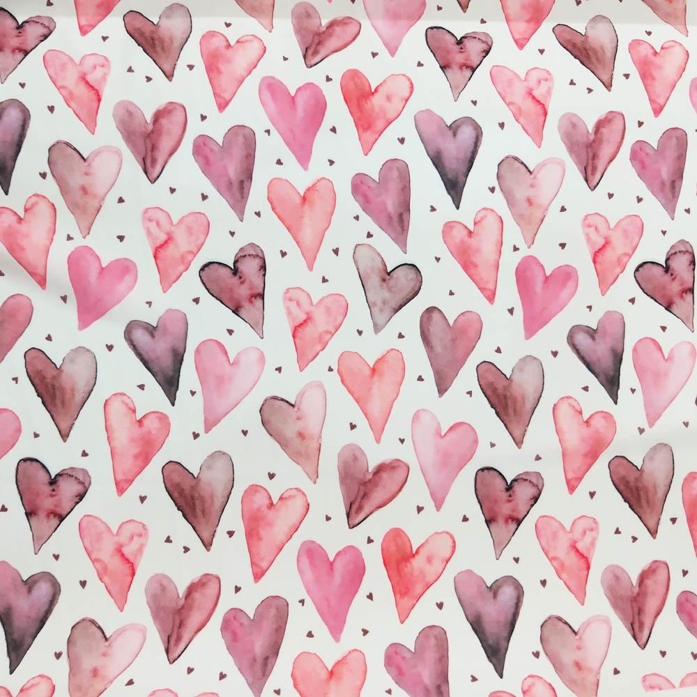 خرید                      پارچه لباس طرح قلب کد 9682