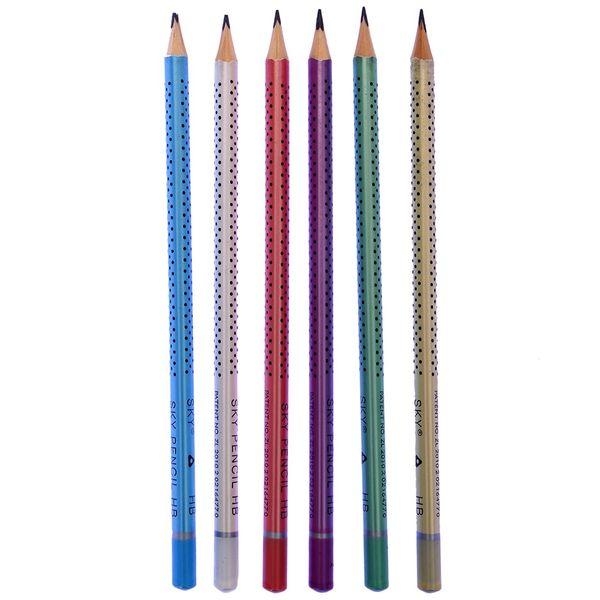 مداد مشکی اسکای  SKY HB مدل نقطه بسته 6 عددی