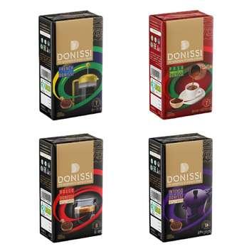 پودر قهوه دونیسیمتنوع -250 گرم مجموعه 4 عددی