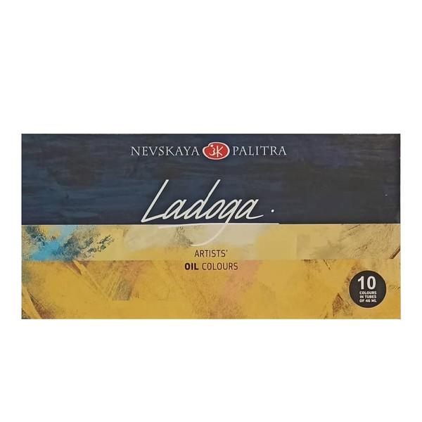 رنگ روغن لادوگا مدل NEVSKAYA PALITRA بسته 10 عددی حجم 46 میلی لیتر