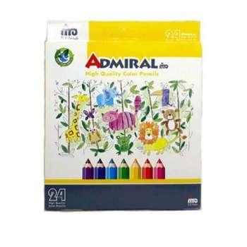 مداد رنگی 24 رنگ آدمیرال کد 012