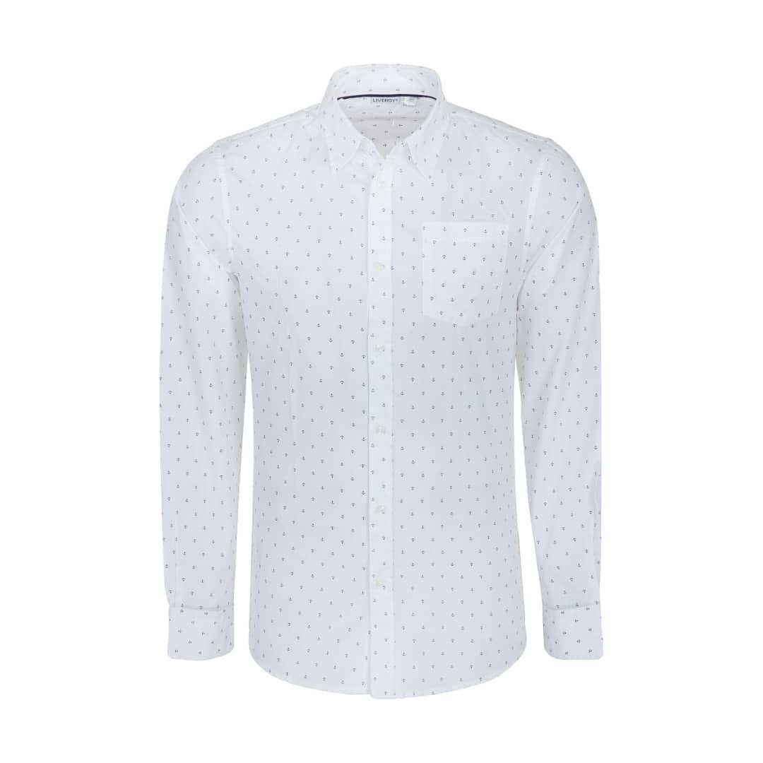 پیراهن آستین بلند مردانه لیورجی مدل 0020