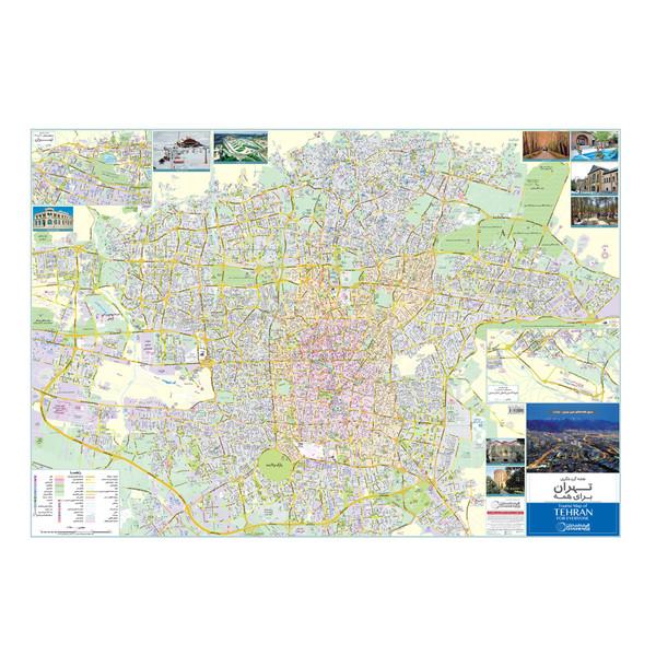 نقشه گردشگری تهران گیتاشناسی نوین کد ۱۴۷۵