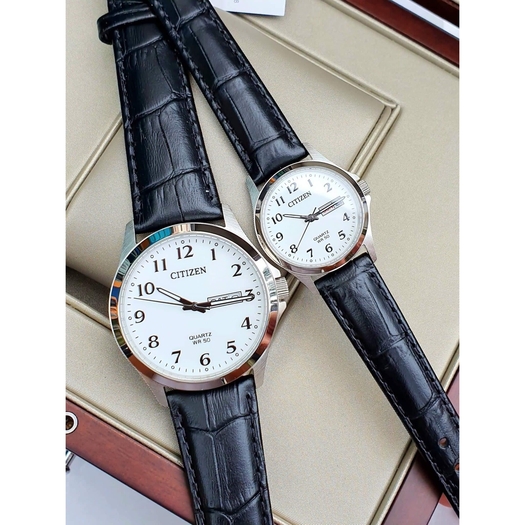 ست ساعت مچی عقربه ای زنانه و مردانه سیتی زن مدل BF5000-01A EQ2000-02A