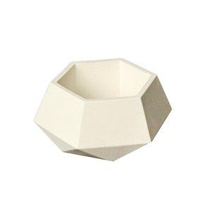 گلدان بتنی مدل شش ضلعی