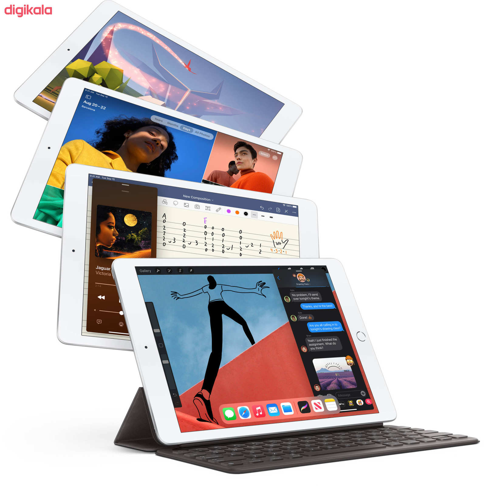 تبلت اپل مدل iPad 10.2 inch 2020 WiFi ظرفیت 128 گیگابایت  main 1 9