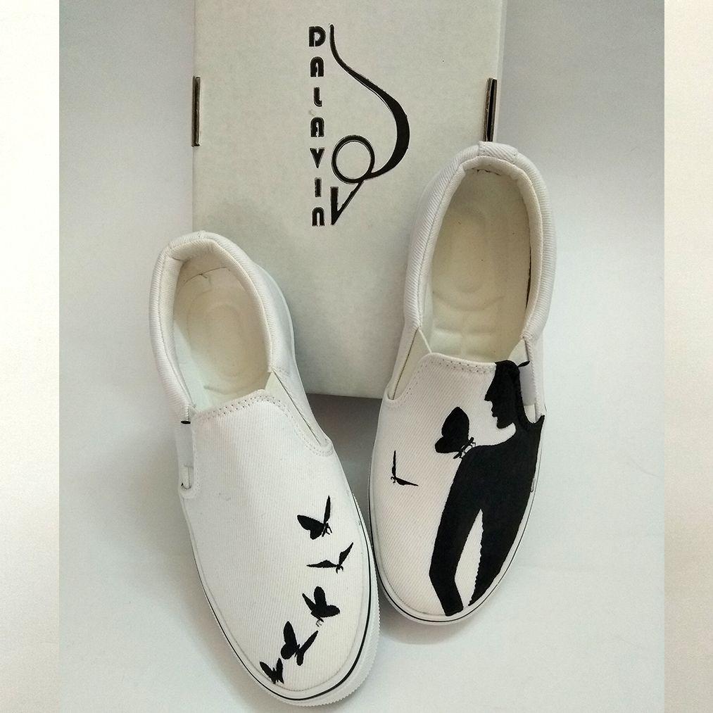 کفش روزمره زنانه دالاوین طرح پروانه کد V-30 -  - 5