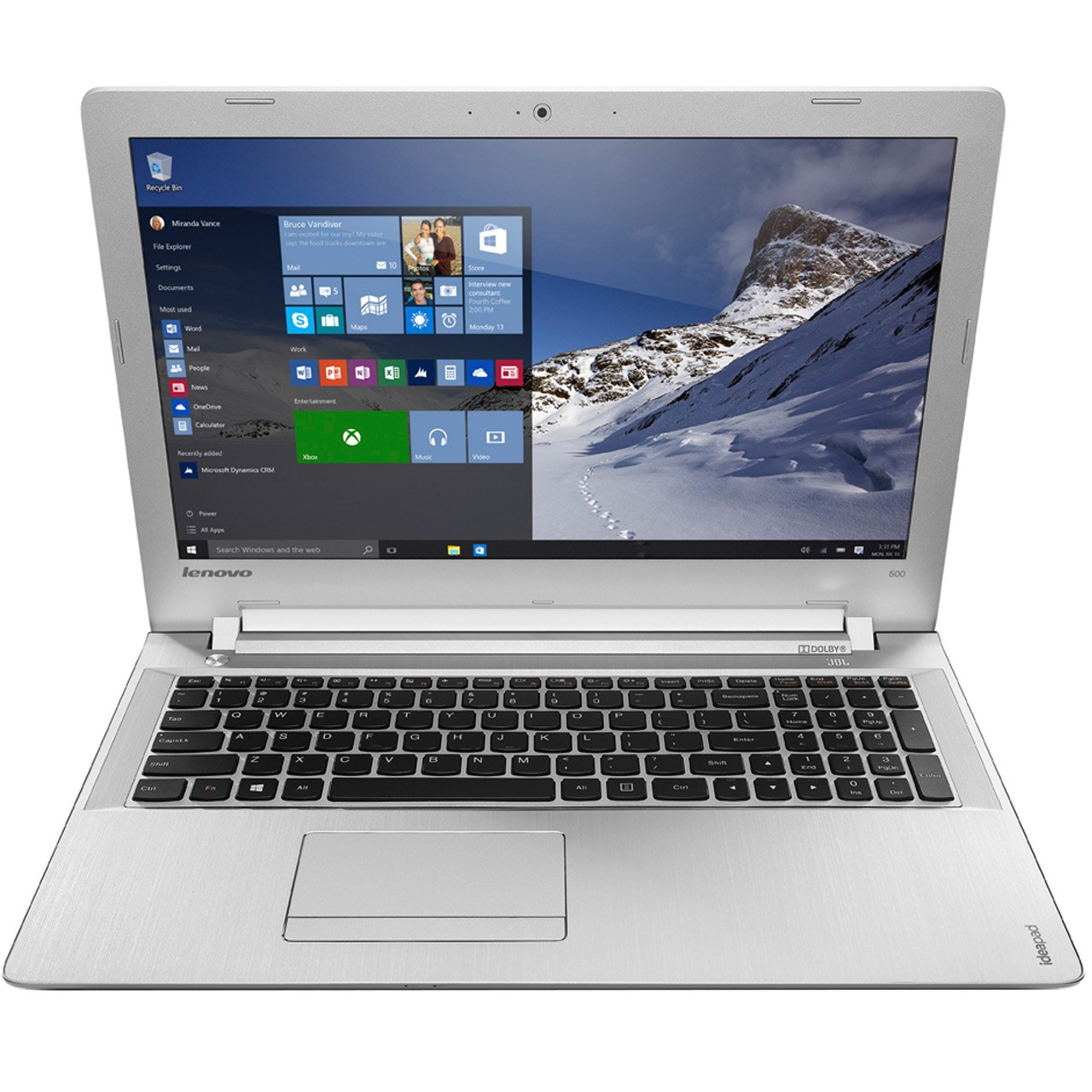 لپ تاپ 15 اینچی لنوو مدل Ideapad 500 - F