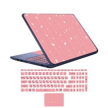استیکر لپ تاپ کد lov-02 به همراه برچسب حروف فارسی کیبورد
