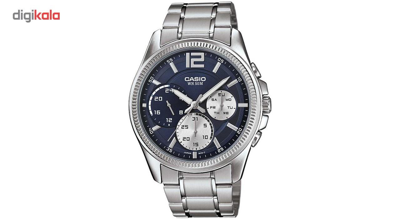 خرید ساعت مچی عقربه ای مردانه کاسیو مدل MTP-E305D-2AVDF