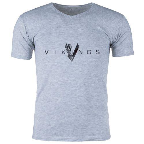 تی شرت ملانژ  مردانه گالری واو طرح Vikings کد CT80217
