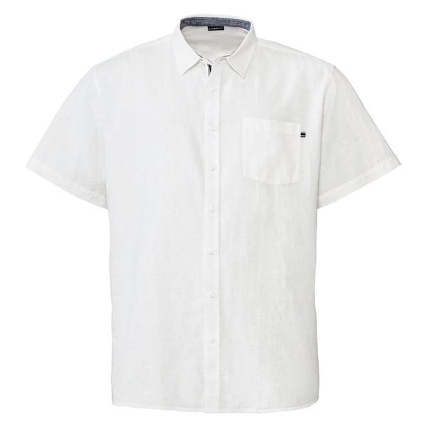 پیراهن آستین کوتاه مردانه لیورجی مدل p348053 رنگ سفید