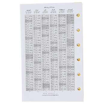کاغذ کلاسور پاپکو بسته 120عددی مدل NB-638-SH
