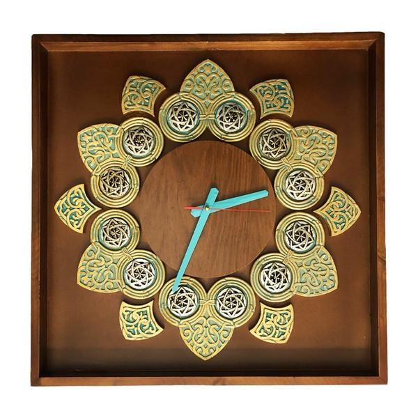 ساعت دیواری آسوریک مدل برگ کد 1755