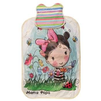 زیرانداز تعویض نوزاد ماما پاپا مدل دختر و گل کد 2