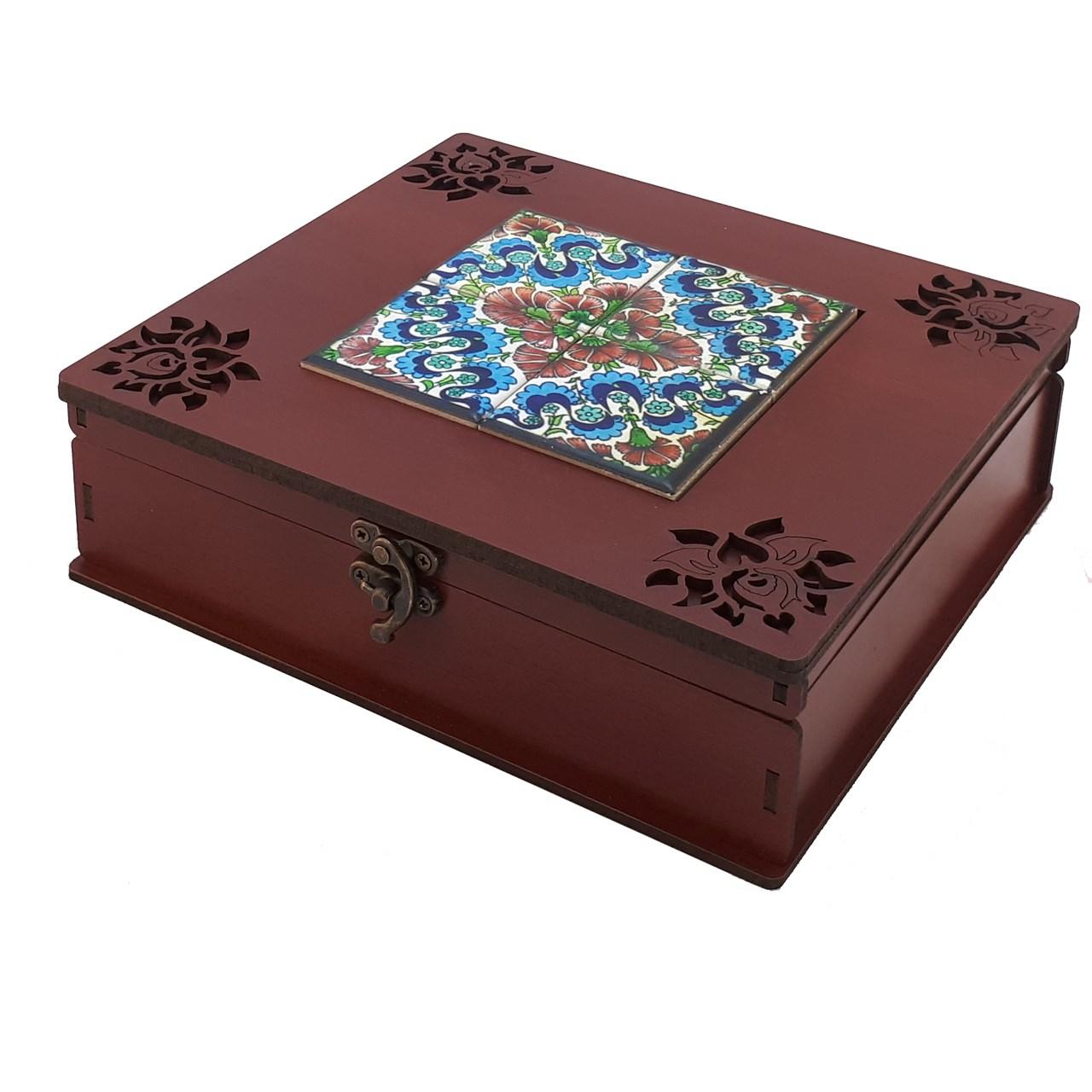 جعبه چای کیسه ای مدل آبرنگ