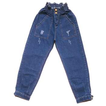 شلوار جین زنانه مدل مام استایل کمر هویجی