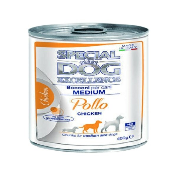 کنسرو سگ اسپشیال داگ مدل  Medium chicken وزن 400 گرم