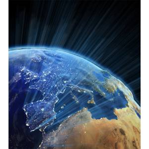 تابلو شاسی آکو طرح زمین و کهکشانf29سایز 20x28 سانتی متر