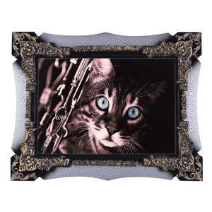 تابلو فرش ماشینی دنیای فرش طرح گربه کد 243