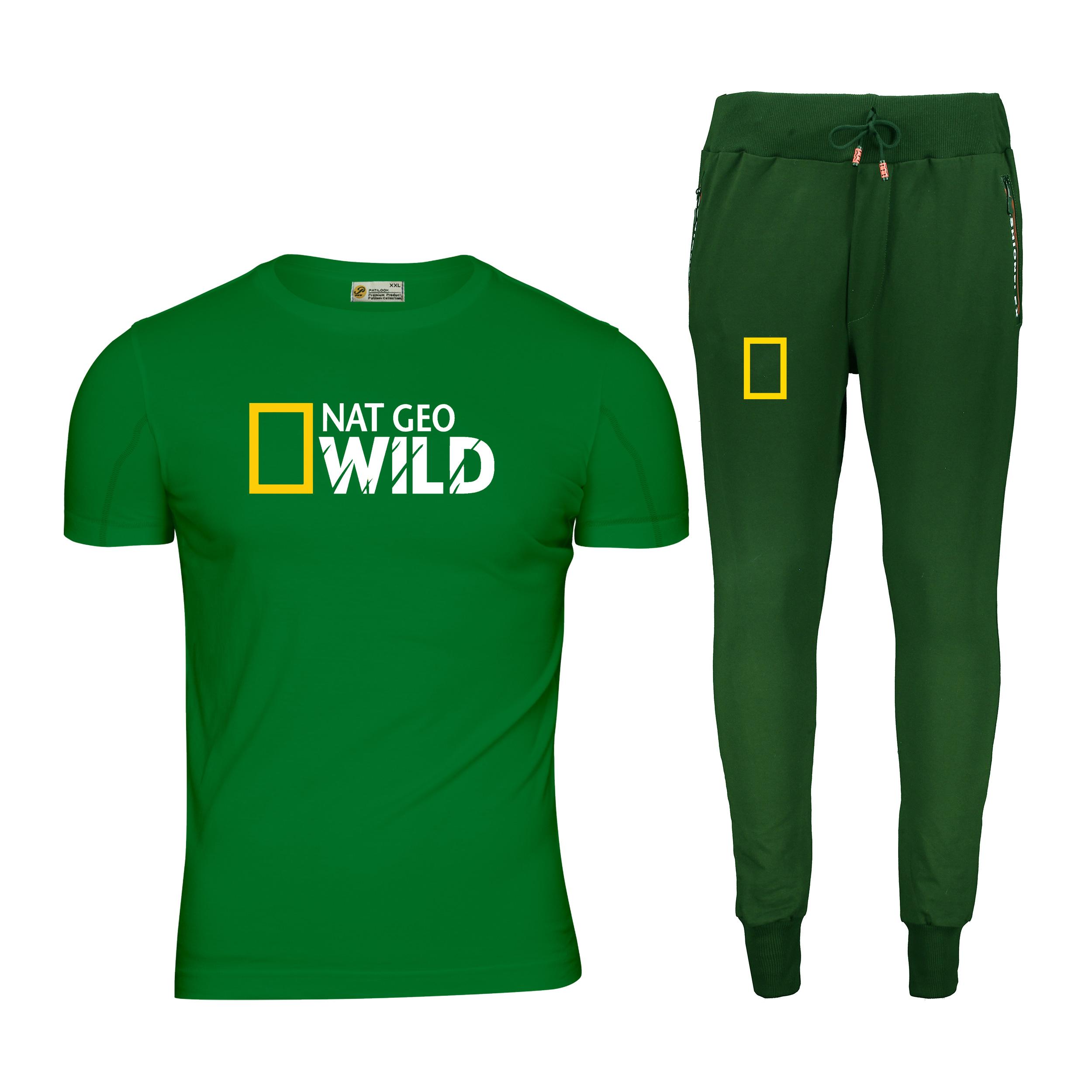 ست تی شرت و شلوار مردانه پاتیلوک مدل نشنال جئوگرافیک کد 400108