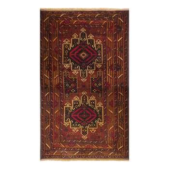 فرش قدیمی دستباف دو و نیم متری طرح عشایری مدل H26