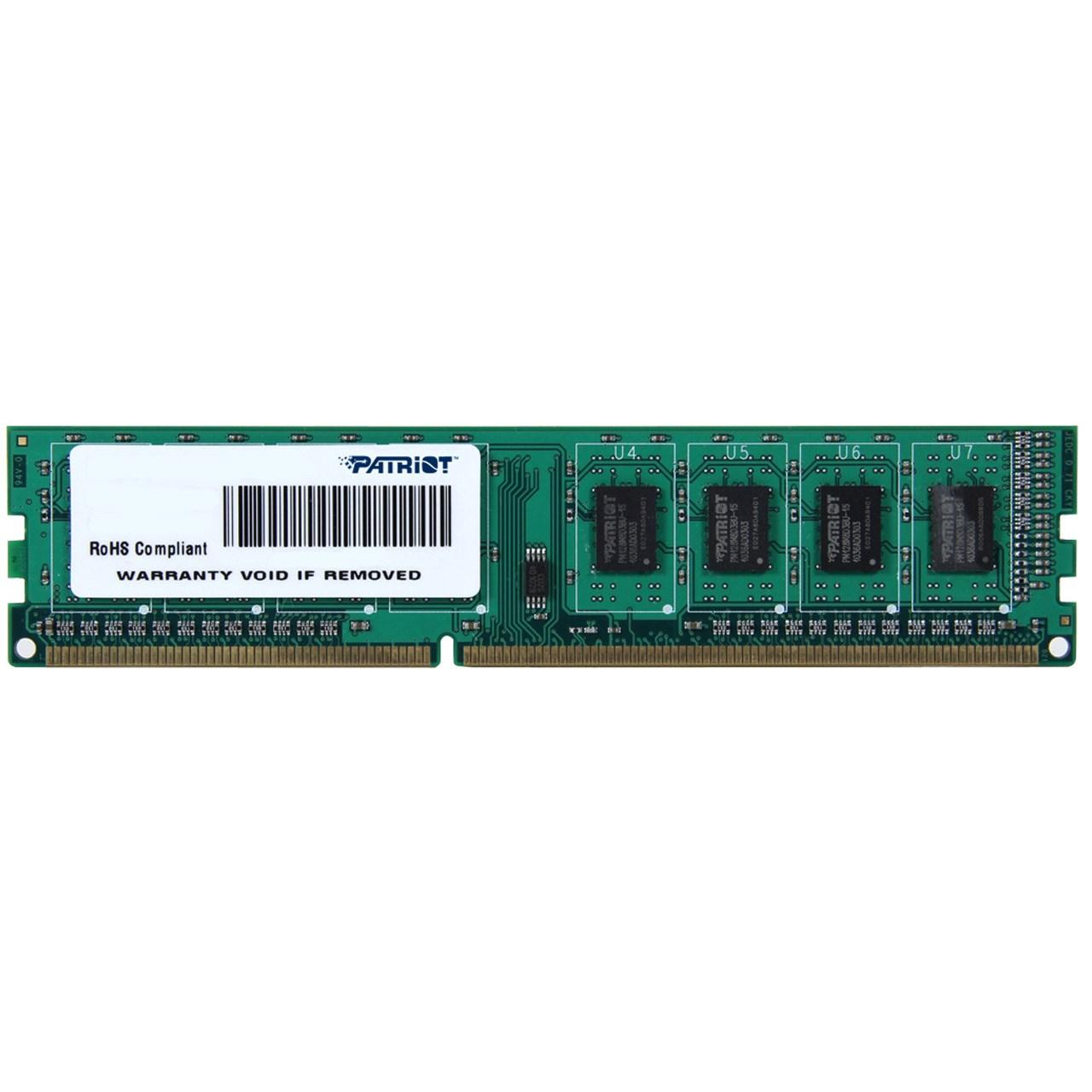 رم دسکتاپ DDR3 تک کاناله 1600 مگاهرتز CL11 پتریوت سری Signature ظرفیت 2 گیگابایت