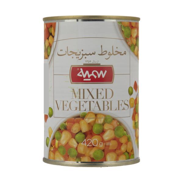 کنسرو سبزیجات مخلوط سمیه - 420 گرم
