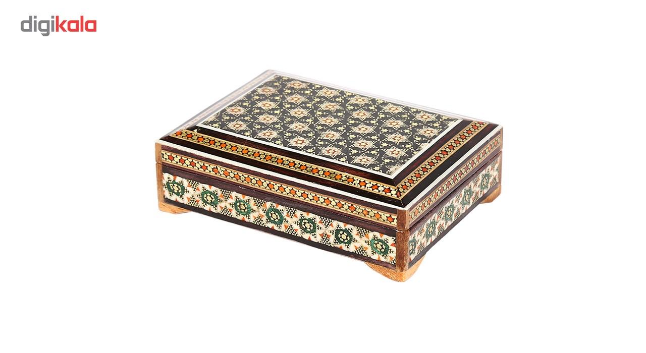 خرید                      جا سکه ای خاتم کاری گالری گوهران مدل جعبه مکعب -1191