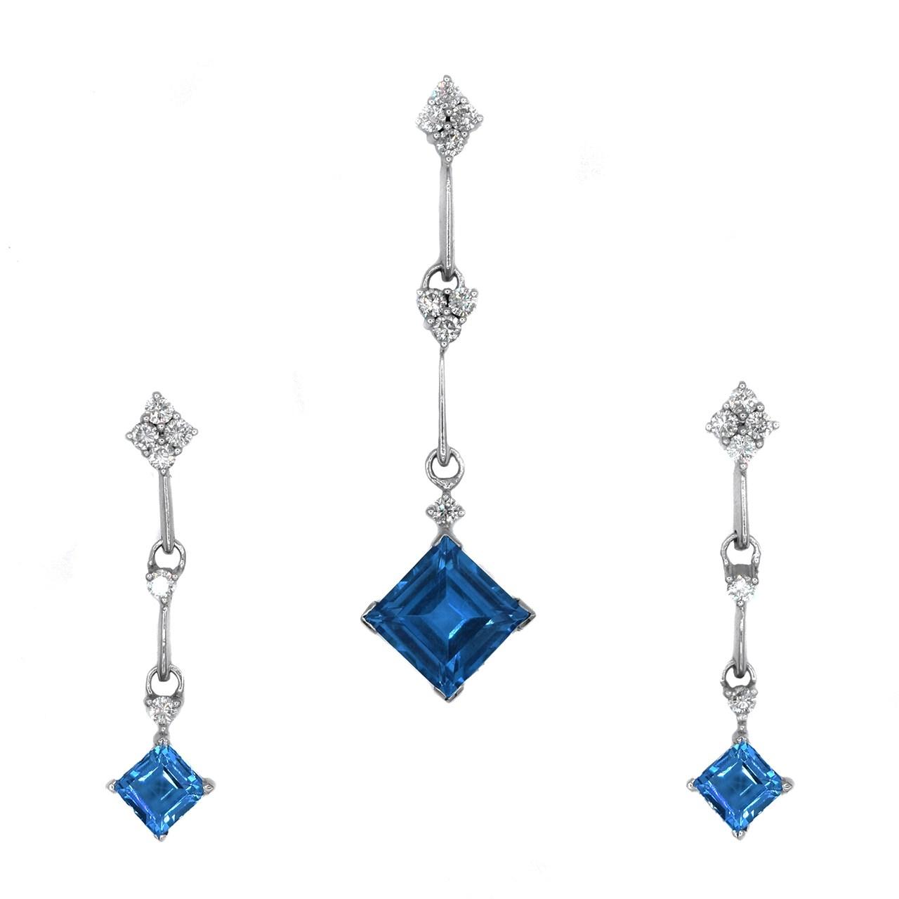 راهنمای خرید نیم ست طلا 18 عیار جواهری سون مدل 1352 لیست قیمت