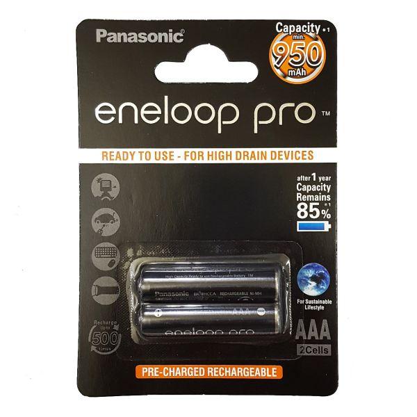 باتری نیم قلمی قابل شارژ پاناسونیک مدل Eneloop Pro - بسته 2 عددی