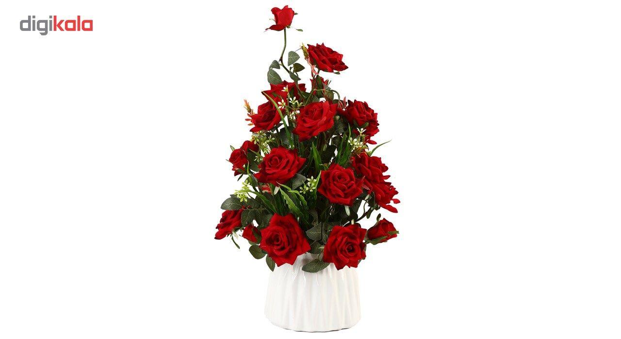 مدل گلدان گل رز مصنوعی
