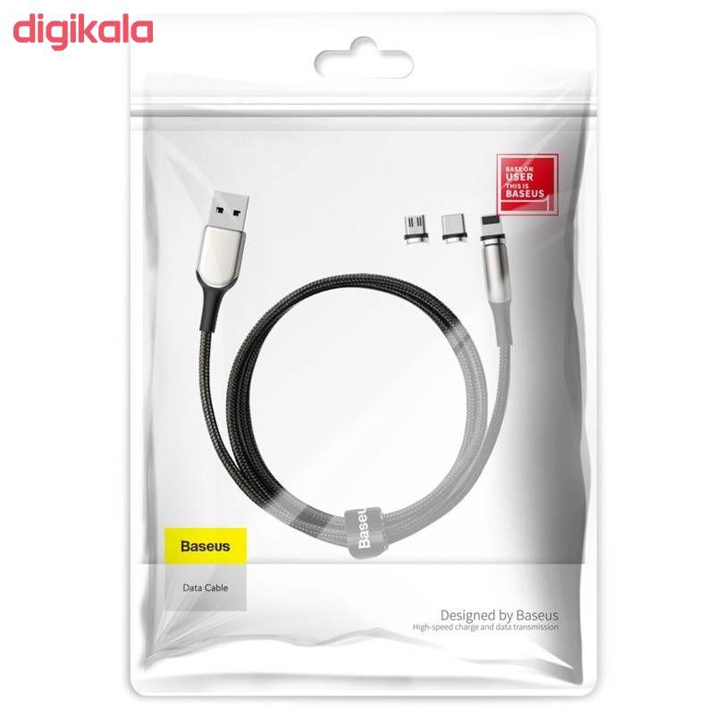 کابل تبدیل USB به USB-C / MicroUSB / لایتنینگ باسئوس مدل TZCAXC-F01 طول 1 متر main 1 6