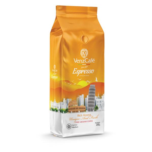 پودر قهوه اسپرسو مدیوم ونزکافه - 250 گرم